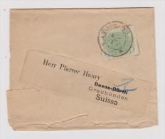 BRASILIEN 1894-07-04 Streifband Nach Davos - Lettres & Documents