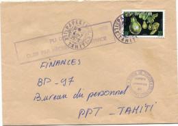 """POLYNESIE LETTRE AVEC CACHET """"PLI OFFICIEL CLOS PAR NECESSITE DE SERVICE"""" DEPART PAPEETE 4-7-1979 POUR PAPEETE - Polynésie Française"""