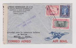 GUATEMALA Zensur Flugpost Brief Nach Basel - Guatemala