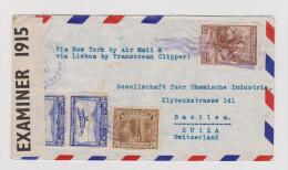 EL SALVADOR 1941-06-25 Zensur Brief Nach Basel - Salvador
