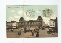 BRUXELLES GARE DU NORD 1911 (ANIMATION) - Spoorwegen, Stations