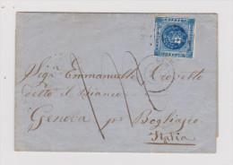 PERU 1861-11-?? LIMA Brief Hülle Nach Bogliasco It. - Pérou