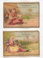 2 Chromos Tour Doré, Série Boisson : Le Café - La Bière - Publicité Maison HUBAULT à Orléans - Cromo