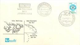 ARGENTINE - MALOUINES - LAS MALVINAS - ANTARCTIQUE ARGENTIN - LETTRE 1982 - BEAUX CACHETS - Argentine