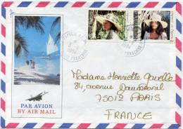 POLYNESIE LETTRE PAR AVION DEPART PAPEETE 3-9-1984 POLYNESIE FRANCAISE POUR LA FRANCE - Storia Postale