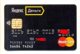 Russia Yandex Money World Black MasterCard - Geldkarten (Ablauf Min. 10 Jahre)