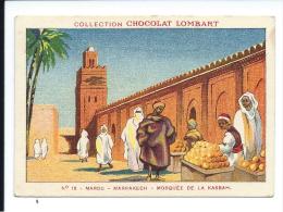 Afrique MAROC Marrakech Mosquée De La Casbah TB/Bien Pub: Lombart 82 X 57 Mm Rare. Didactique. Jamais Collée - Lombart