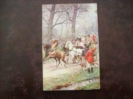 Carte Postale Ancienne Illustrée (Mongine?)- Scène De Chasse à Courre - Hunting
