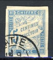Colonie Francesi, Emissioni Generali Timbre Tax 1893-08 N. 18 C. 5 Azzurro Usato Annullo Kratie Cambodge - Segnatasse