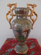 Wunderschöne Alte Vase , Ca 22cm Hoch Mit Griffe Ca 24 Cm , Durchmesser Boden 8,5 Cm - Made In Portugal - Alcobaca (PRT)