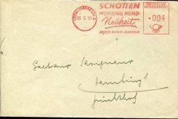 3262 Germany, Red Meter Freistempel 1951 Hameln  , Original Hund,   Dog  Chien Hund - Perros