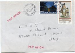 POLYNESIE LETTRE PAR AVION DEPART CENTRE-TRI-AVION-FAAA 2-5-1987 ILE-DE-TAHITI  POUR LA FRANCE - Frans-Polynesië