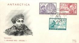 BELGIQUE - EXPEDITION POLAIRE - COMMANDANT ADRIEN De GERLACHE - 1986  - BEAUX CACHETS. - Polar Explorers & Famous People
