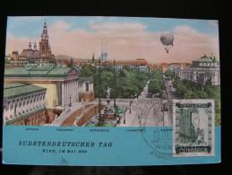 """Ballon Postkarte """"Sudetendeutscher Tag"""" 1 Mai 1959 - Par Ballon"""