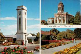 WAIMATE   NEW  ZELAND    CLOCK  TOWER  CATHOLIC CHURCH  GARDENS   (VIAGGIATA) - Nuova Zelanda