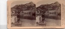 Stereofoto -The Old Fortress Of Fredrikshald ( Halden ) - 1897 Norwegen - Stereoskope - Stereobetrachter