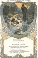 Chromo Phosphatine Falieres Fable De La Fontaine   Le  Loup Et L'agneau - Autres