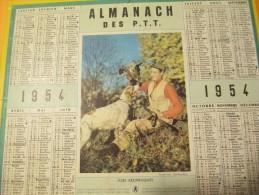 Almanach Des P.T.T./ Joies Réciproques.../Eure Et Loir/ Oberthur/1954    CAL236 - Calendriers