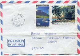 POLYNESIE LETTRE PAR AVION DEPART PIRAE 14-11-1994 ILE-DE-TAHITI POUR LA FRANCE - Polynésie Française