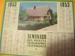 Almanach Des Postes, Télégraphes, Téléphones/ Cottage Normand.../Eure Et Loir/ Oberthur/1953    CAL237 - Grossformat : 1941-60