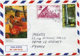 POLYNESIE LETTRE PAR AVION DEPART PIRAE 21-10-1992 ILE-DE-TAHITI POUR LA FRANCE - Polynésie Française