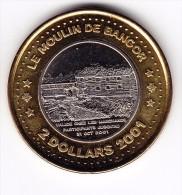 2001 Le Moulin De Bangor Bimetallic $2 Token - Canada