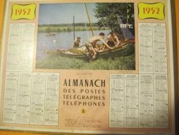 Almanach Des Postes, Télégraphes, Téléphones/ Les Canoéistes.../Eure Et Loir/ Oberthur/1952    CAL238 - Grossformat : 1941-60
