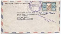 GUATEMALA CC A FRANCIA MAT TURISTICO MARCA AFRANCHI PAR AVION JUSQU´A NEW YORK - Guatemala