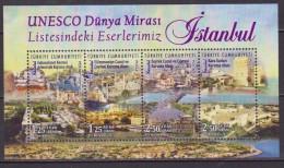 TURCHIA  2015 UNESCO HERITAGE SITES SHEET. MNH - UNESCO