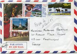 POLYNESIE LETTRE PAR AVION DEPART PUNAAUIA-TAMANU 3-4-1995 TAHITI POUR LA FRANCE - Polynésie Française