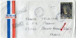 POLYNESIE LETTRE PAR AVION EXPRES DEPART FAAA-AEROPORT 18-11-1994 ILE-DE-TAHITI POUR LA FRANCE - Polynésie Française