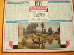 Almanach Des Postes Télégraphes Téléphones/Pêche à La Ligne / Calendrier OLLER/ 1952    CAL239 - Calendars