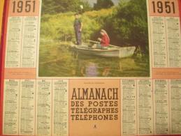 Almanach Des Postes Télégraphes Téléphones/Plaisir Du Dimanche / Oberthur/ 1951    CAL240 - Grossformat : 1941-60