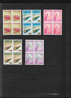 PARAGUAY N° 593/597  BLOCS  DE 4  NEUFS** - Paraguay