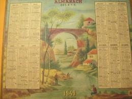 Almanach Des P.T.T../Les Pêcheurs/ Oberthur/ 1949    CAL243 - Calendars