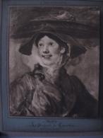PEINTRE Hogarth ,la Marchande De Crevettes - Old Paper