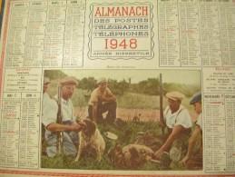 Almanach Des Postes Télégraphes Téléphones / Repose De Chasseurs / Oller /puteaux/ 1948    CAL244 - Grossformat : 1941-60
