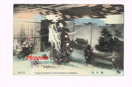 Tmage Decorated By Chrysanthemum Blossoms - Geisha - China - Cartes Postales