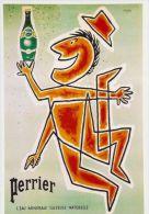 Postcard - Poster Reproduction - Perrier L´eau Minérale Gazeuse Naturelle 1955 - Publicité