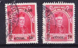 Ecuador 1950 Father De Velasco Surcharges  Set - Fine Used - Ecuador