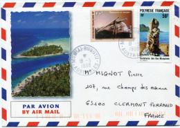 POLYNESIE LETTRE PAR AVION DEPART MOERAI-RURUTU 18-5-1998 AUSTRALES POUR LA FRANCE - Polynésie Française