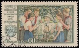 RUSSIA - Scott #1829 Michurin And Children / Used Stamp - Oblitérés