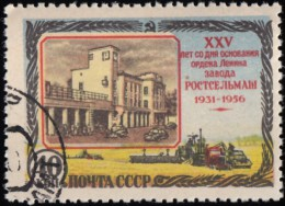 RUSSIA - Scott #1836 Rostov Agricultural Machinery Works, 25th Anniversary / Used Stamp - Oblitérés