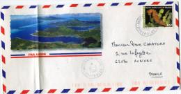 POLYNESIE LETTRE PAR AVION DEPART MOERAI-RURUTU 19-6-2000 AUSTRALES POUR LA FRANCE - Polynésie Française