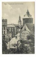 LETTONIE  /  RIGA  /  SANDSTRASSE  MIT  PULVERTURM  ( Tramway Et Publicité Murale ) - Lettonie