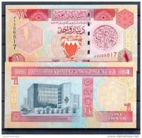 BAHREIN / BAHRAIN * 1 DINAR * P19 * UNC BANKNOTE - Bahrain