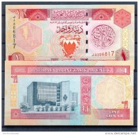 BAHREIN / BAHRAIN * 1 DINAR * P19 * UNC BANKNOTE - Bahrein