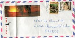 POLYNESIE LETTRE PAR AVION DEPART TIPUTA-RANGIROA 12-12-1984 POUR LA FRANCE - Storia Postale