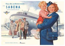 CARTE POSTALE - SABENA - Aviation