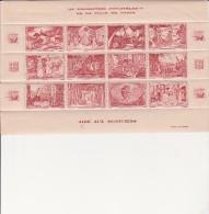 VIGNETTES - AIDE AUX MUSICIENS VILLE DE PARIS -FEUILLET DE 12 VIGNETTES COULEUR ROUGE - Commemorative Labels